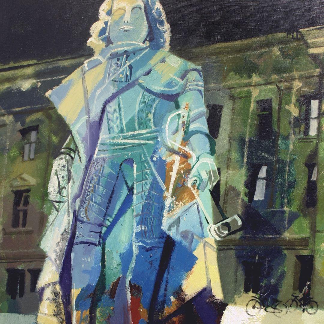 Statue Markgraf Friedrichs von Brandenburg-Bayreuth Detailansicht