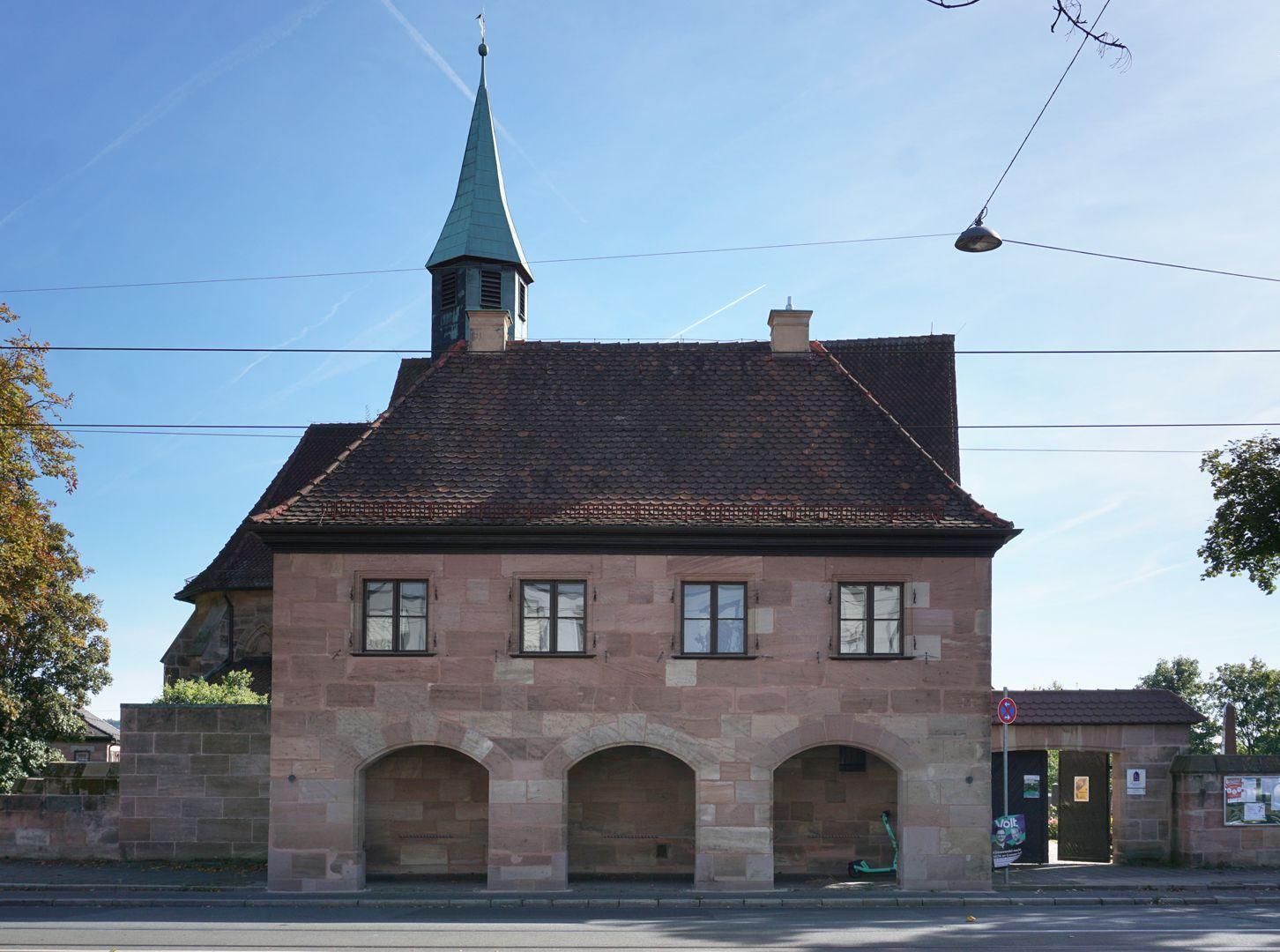 Pförtnerhaus des Friedhofs St. Jobst Nordseite