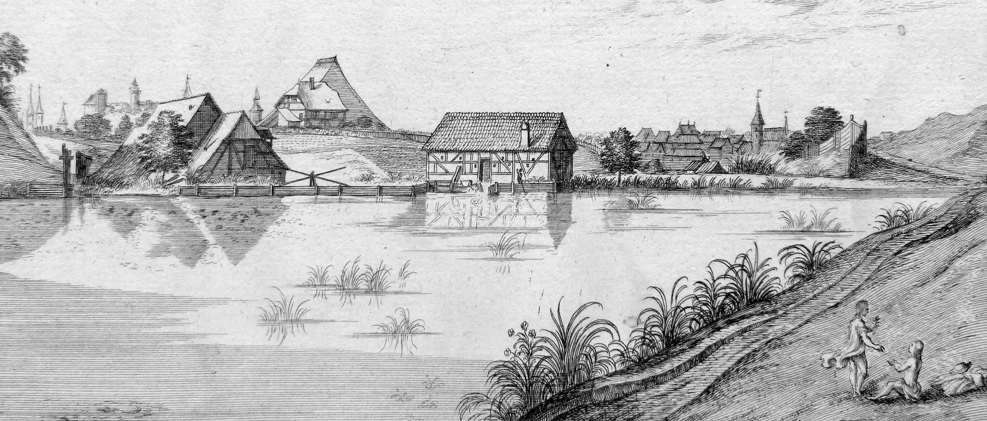 Die Tulen=Au, Zwischen Wörth und St. Peter mittlerer Bildstreifen