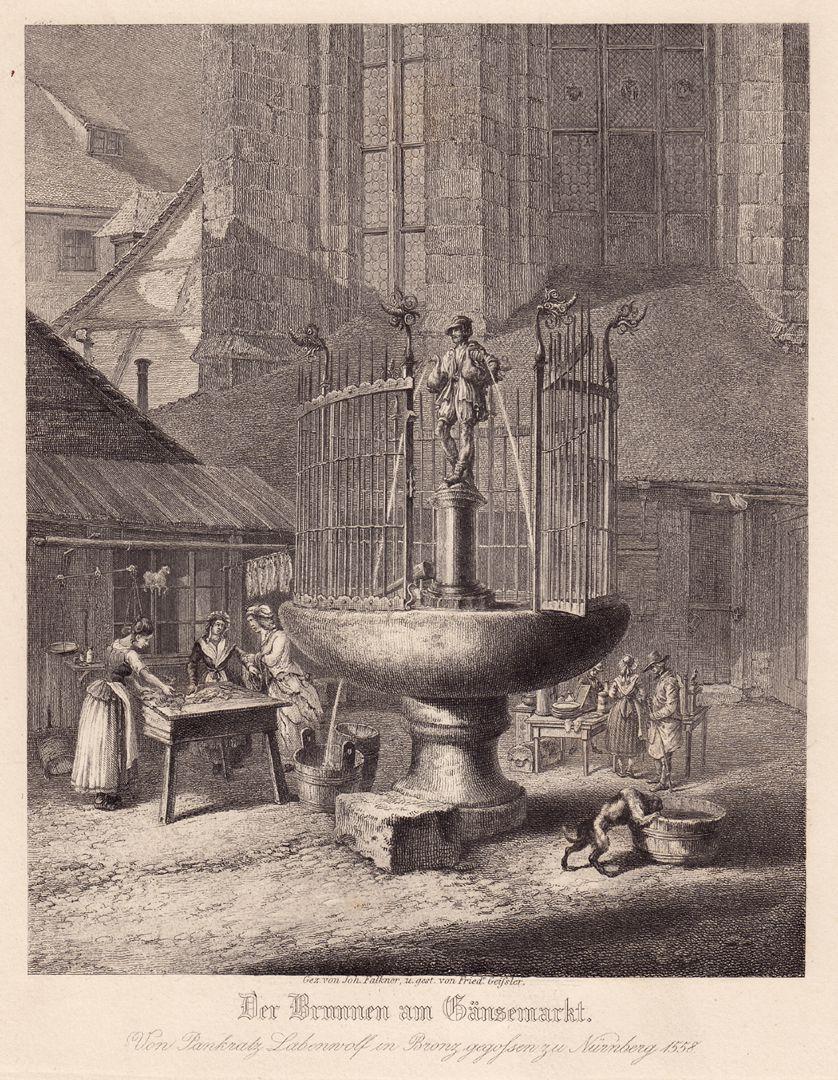 """""""Der Brunnen am Gänsemarkt"""" """"Der Brunnen am Gänsemarkt"""""""