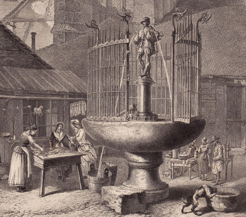 """""""Der Brunnen am Gänsemarkt"""" Markttreiben"""
