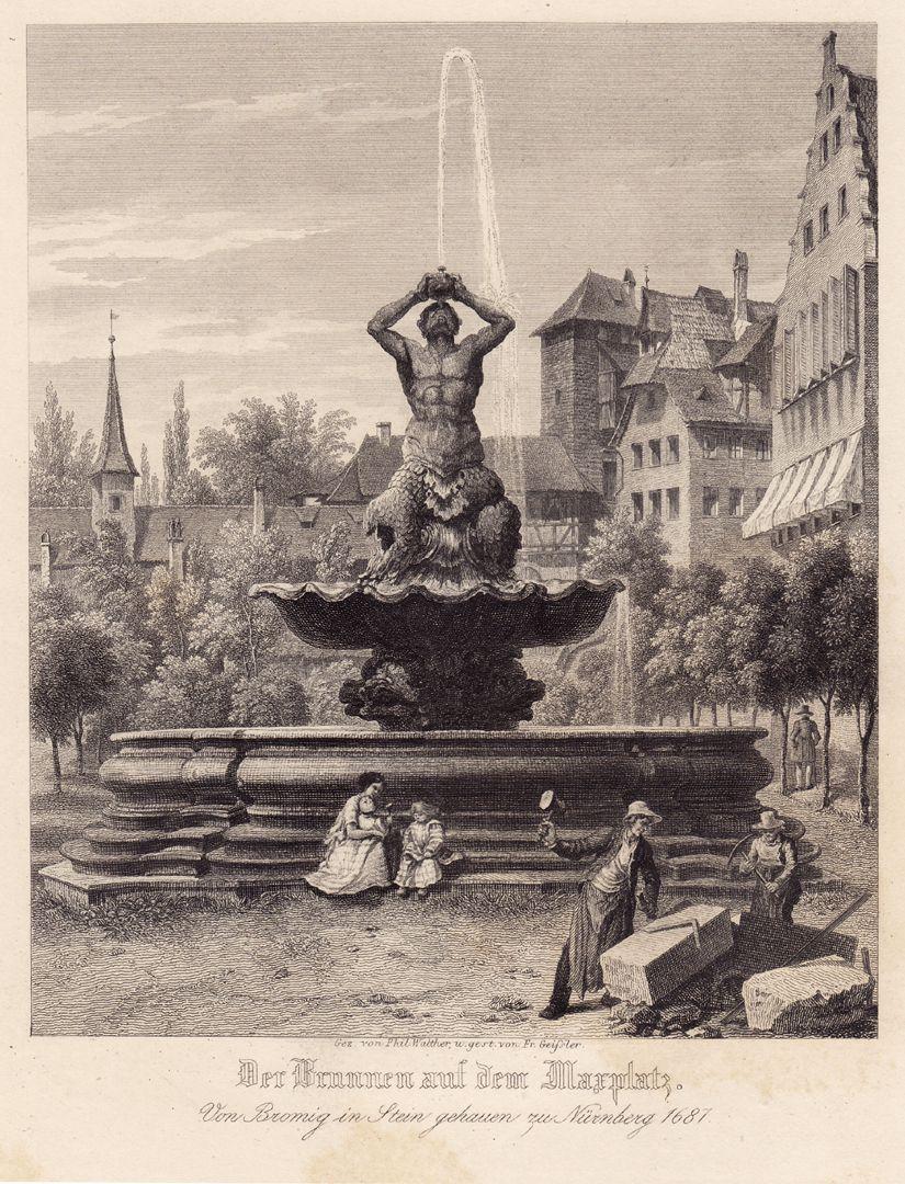 """""""Der Brunnen auf dem Maxplatz"""" Der Brunnen auf dem Maxplatz"""