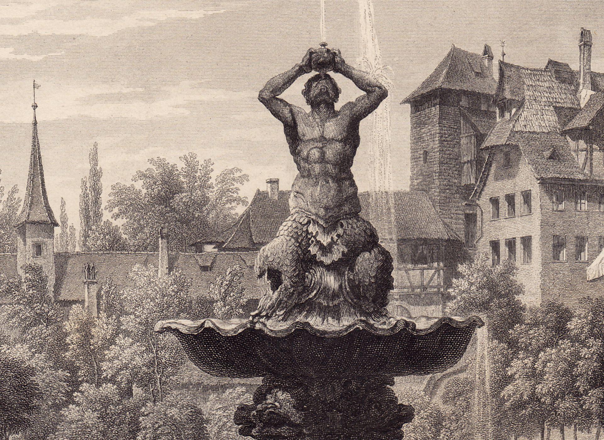 """""""Der Brunnen auf dem Maxplatz"""" Triton"""