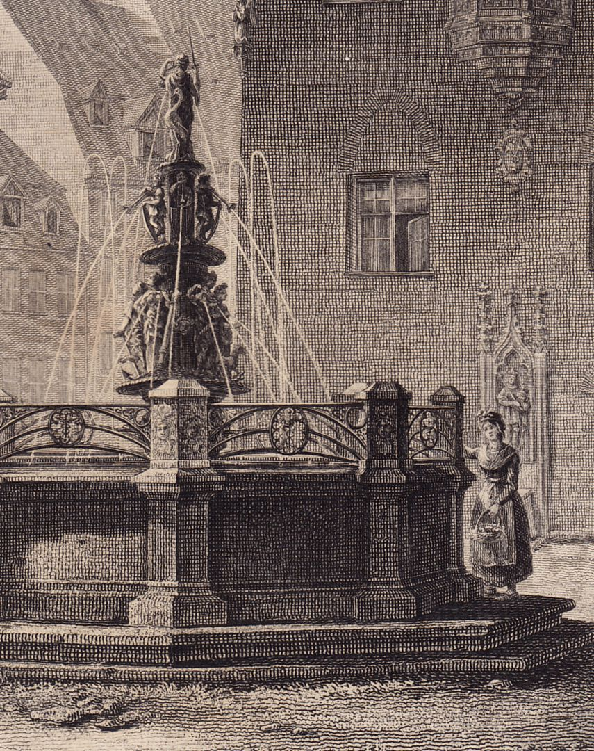 """Brunnen bei St. Lorenz"" Detail"