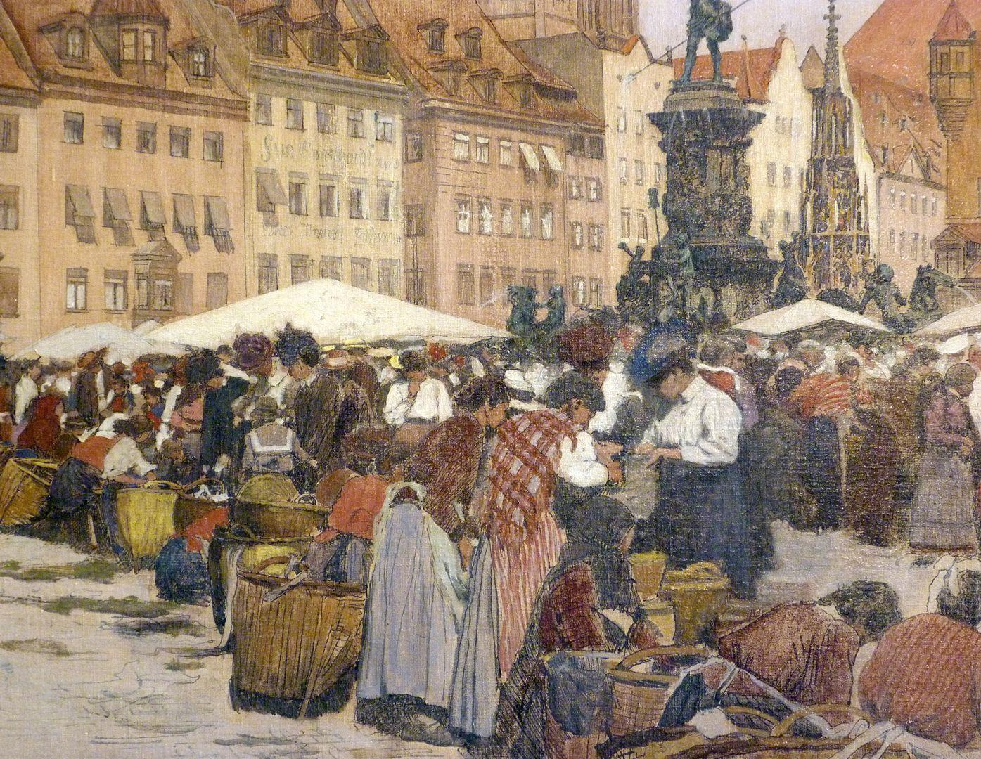 Hauptmarkt in Nürnberg linke untere Bildpartie