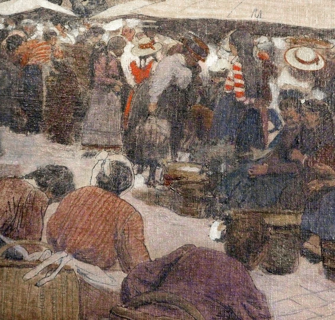 Hauptmarkt in Nürnberg Marktfrauen, Detail