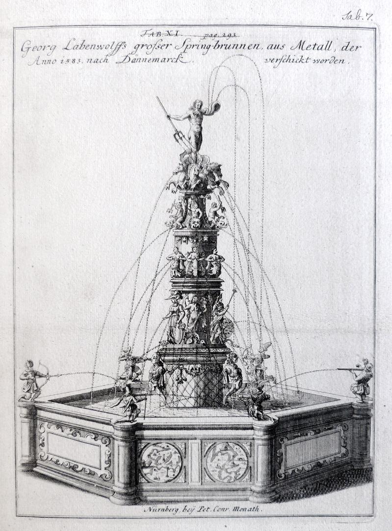 Neptunbrunnen Gesamtansicht des Neptunbrunnens