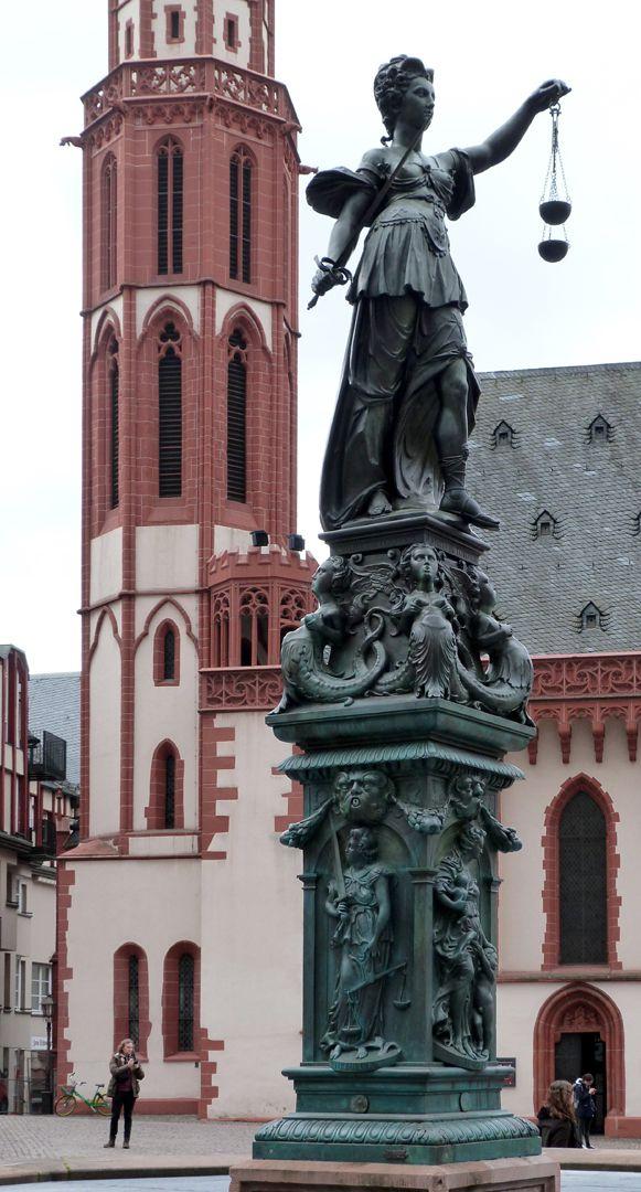 Gerechtigkeitsbrunnen (Frankfurt a.M.) Gesamtansicht von Nordwesten