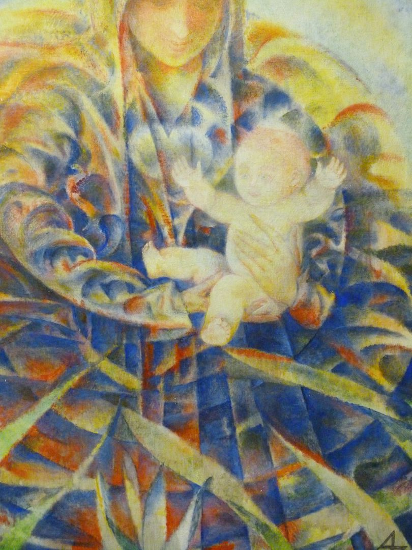 Madonna mit Kind Detailansicht