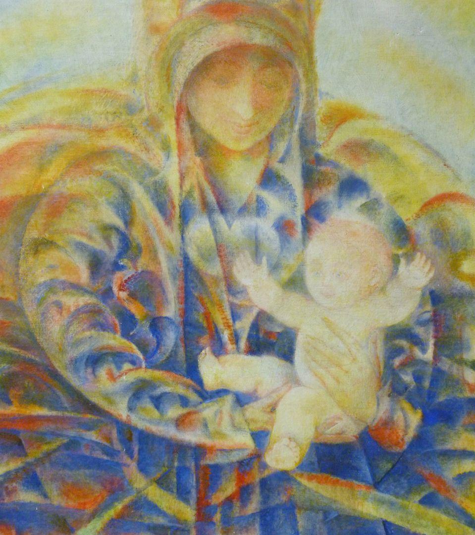 Madonna mit Kind Mutter mit Kind, Detailansicht