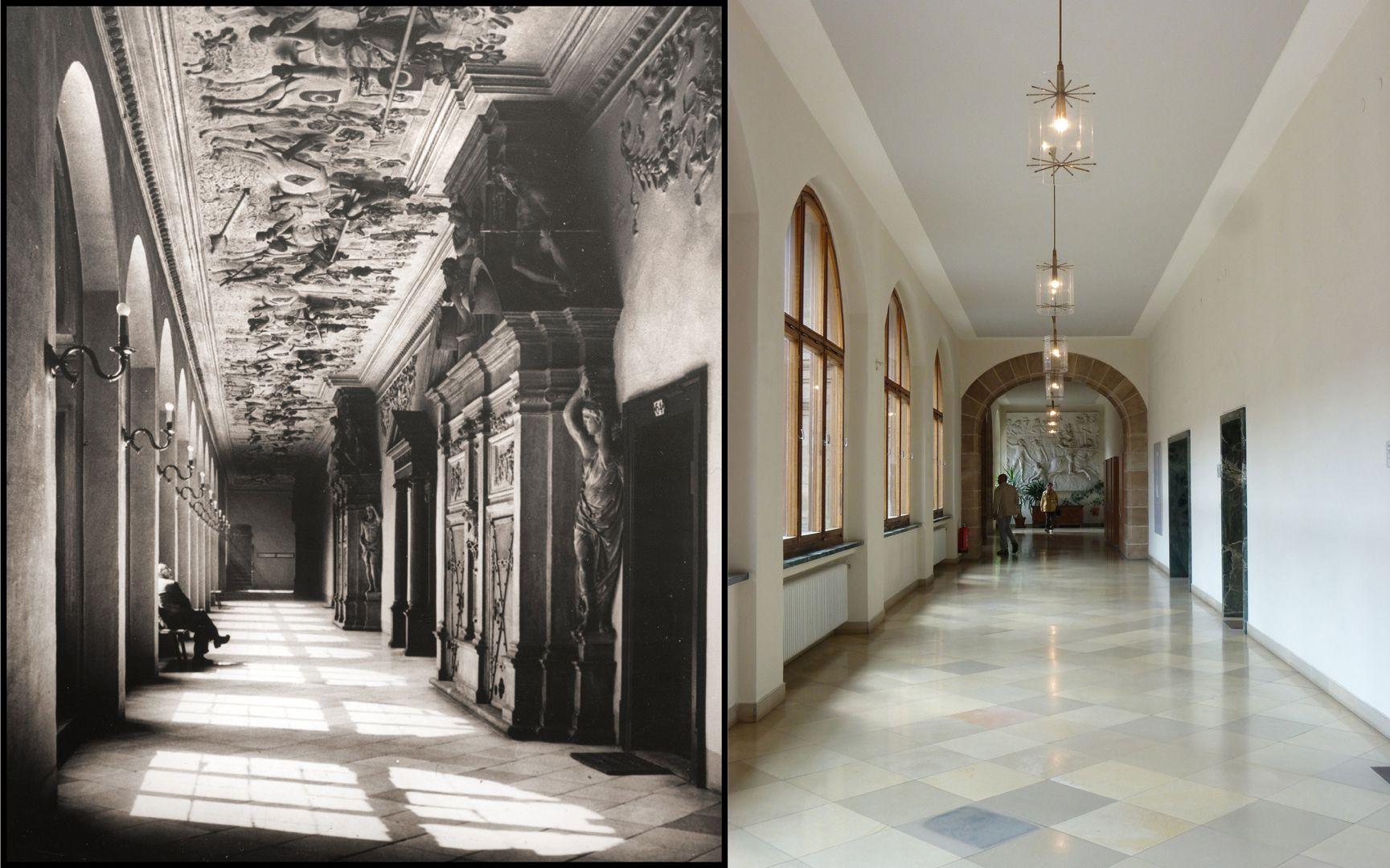 Gesellenstechen Fotografie vor 1945 und heutiger Zustand
