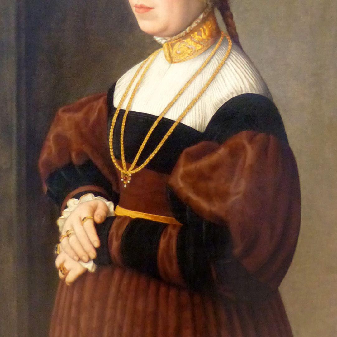 Bildnis einer 31jährigen Dame Detailansicht