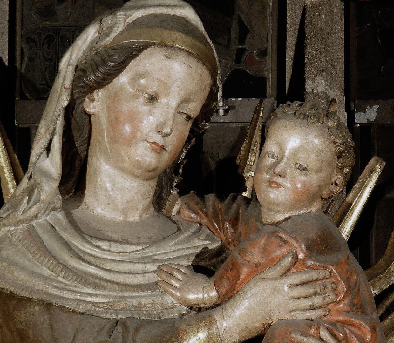 Muttergottes Köpfe von Maria und Jesukind