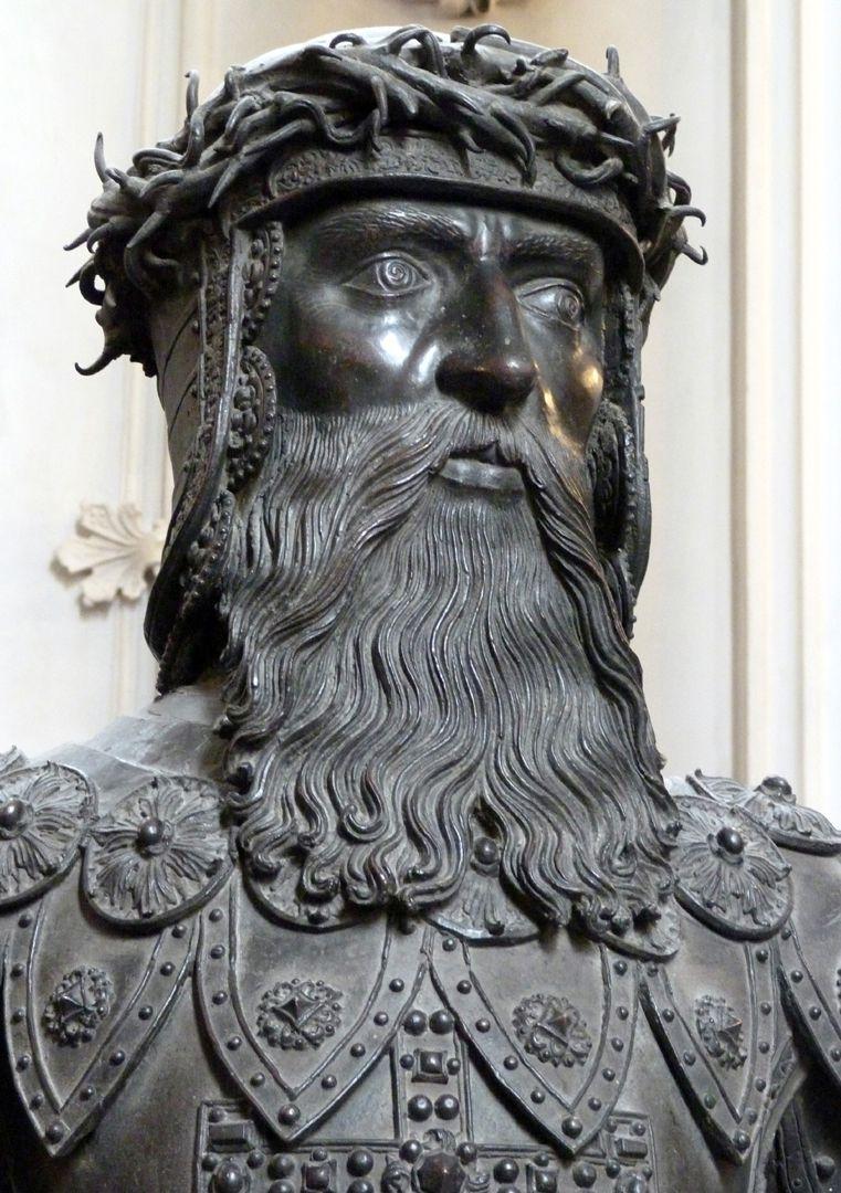 Gottfried von Bouillon (Innsbruck) Kopf mit Astkrone