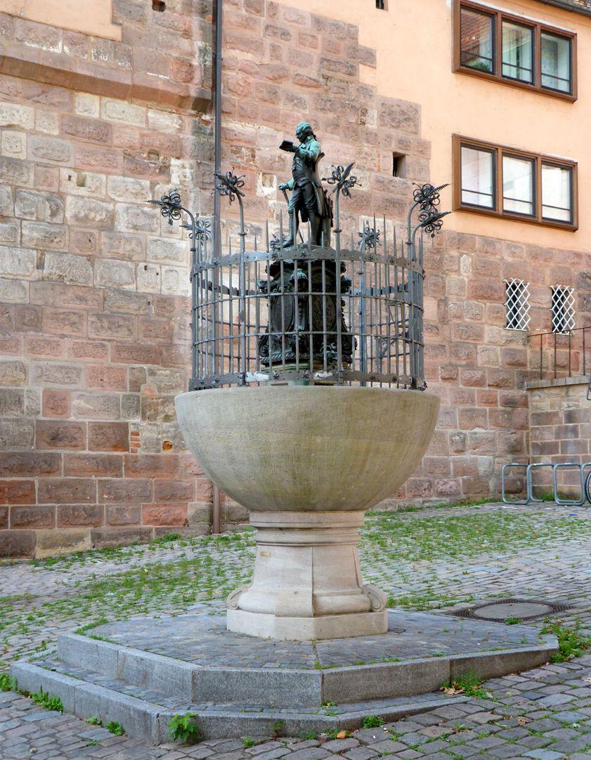 Grübelsbrunnen Gesamtansicht von Nordost