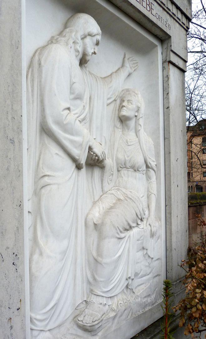 Grabmal Familie Heinrich Zeltner Schrägansicht aus südwestlicher Richtung