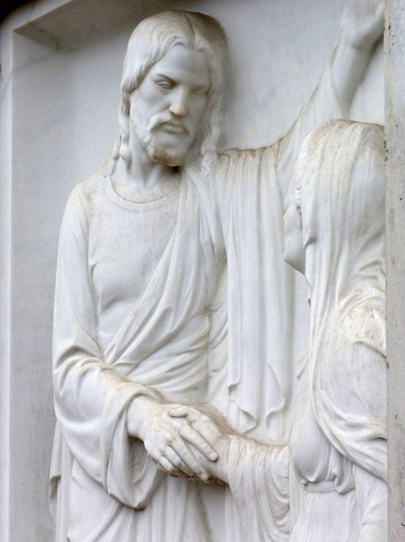 Grabmal Familie Heinrich Zeltner Schrägansicht aus nordwestlicher Richtung, Detail