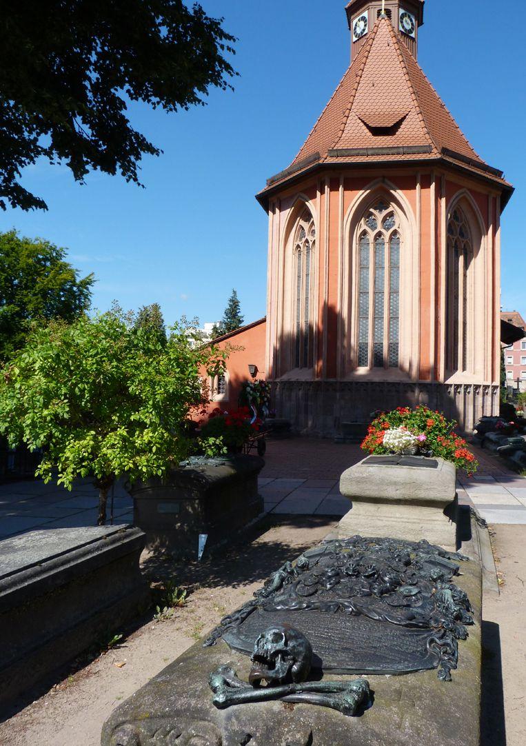 Epitaph des Andreas Georg Paumgarten Gräberfeld mit St. Johanniskirche
