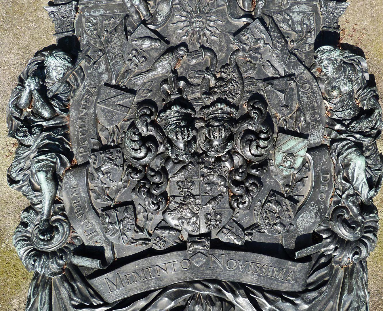 Epitaph des Andreas Georg Paumgarten zentrales Wappenfeld