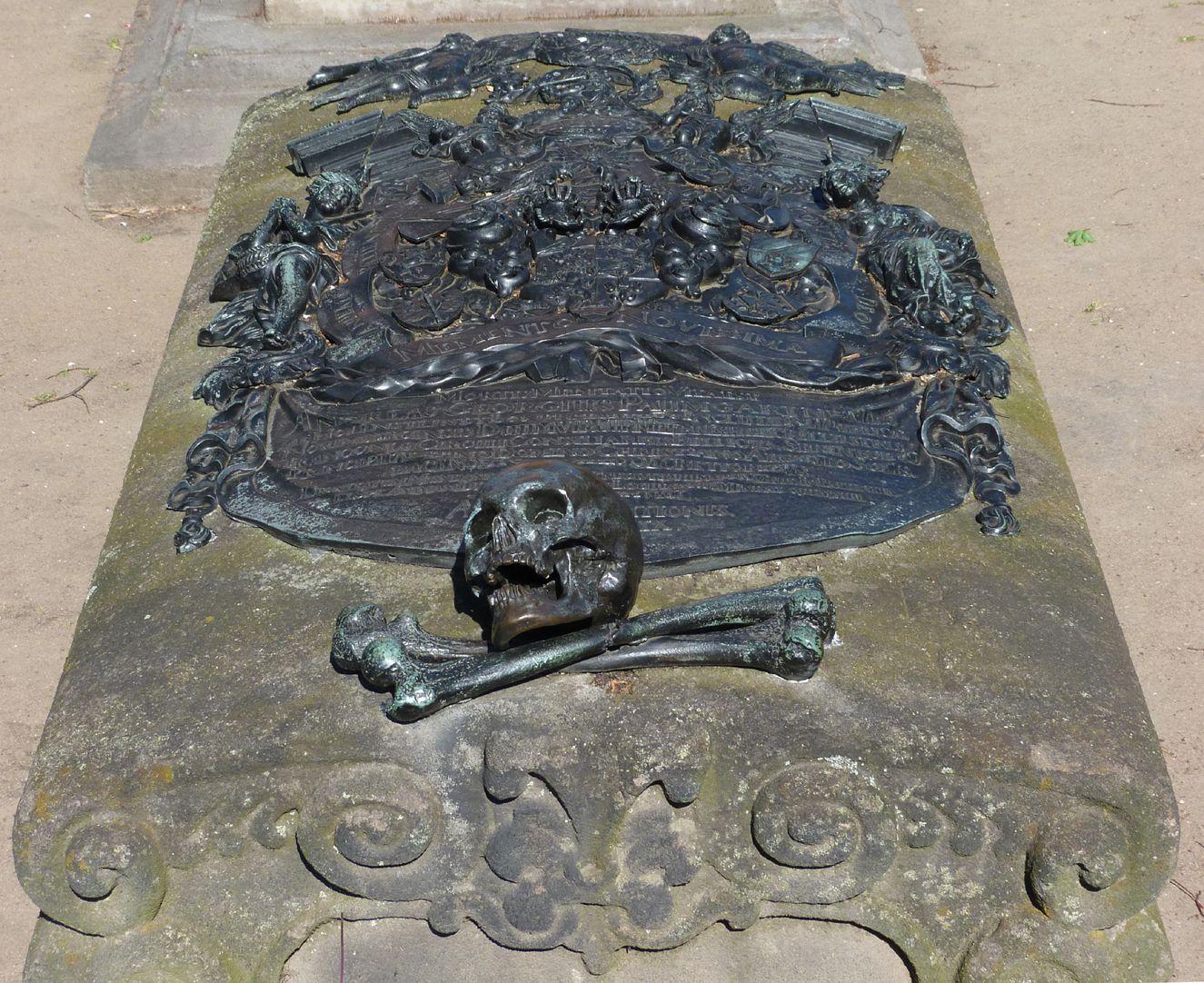 Epitaph des Andreas Georg Paumgarten Aufsicht von Ost