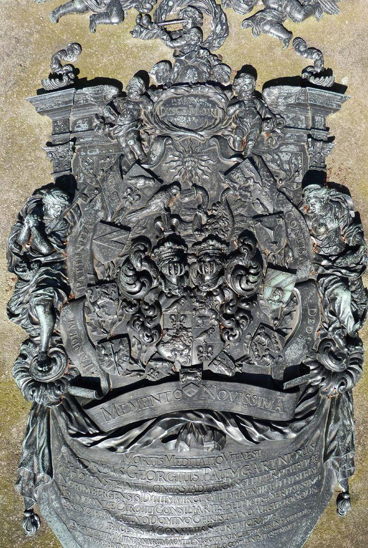 Epitaph des Andreas Georg Paumgarten Aufsicht von oben