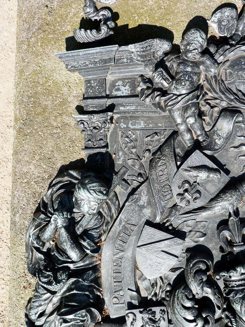 Epitaph des Andreas Georg Paumgarten linke obere Ecke des zentralen Wappenfelds