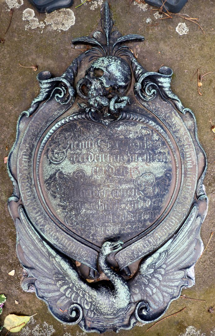 Epitaph des Georg Schwanhardt (Glasschneider) und Ehefrau Susanna Gesamtansicht der Kartusche