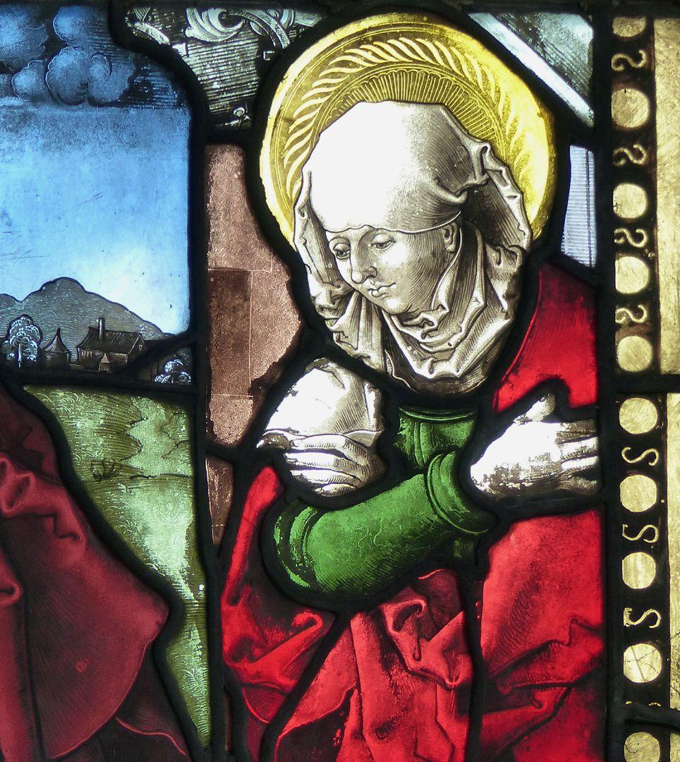 Achsen- bzw. Ostfenster Detail der Anna