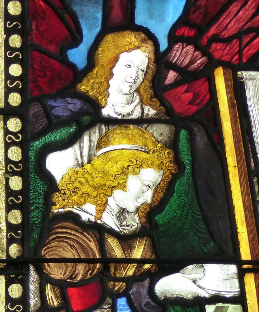 Achsen- bzw. Ostfenster Engel, Detail