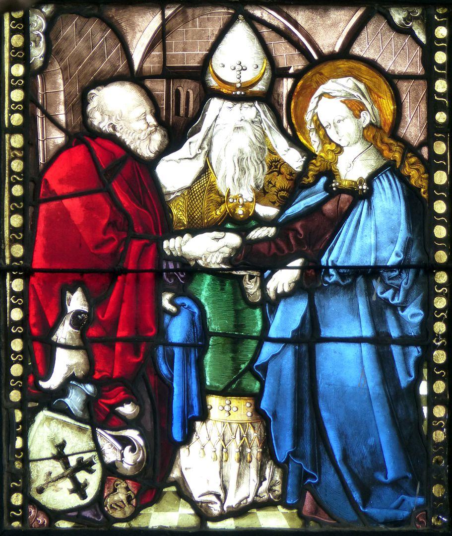Achsen- bzw. Ostfenster Vermählung Maria und Joseph