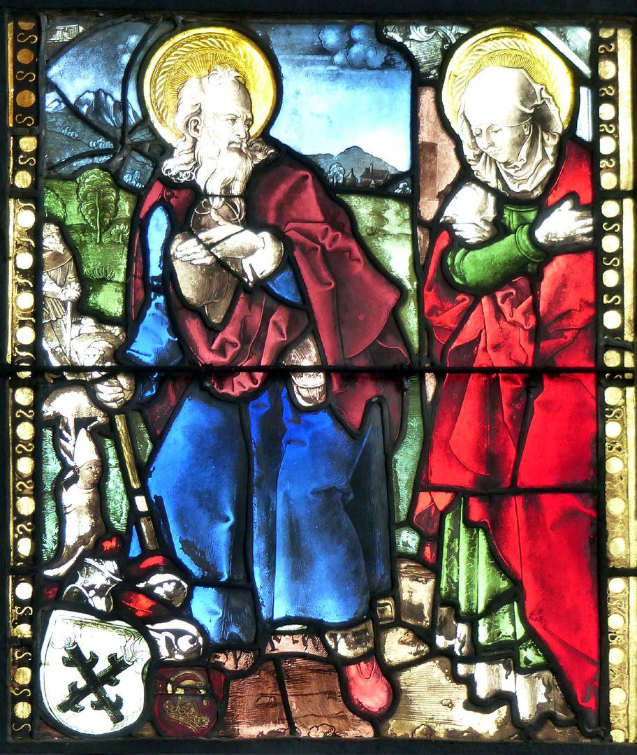 Achsen- bzw. Ostfenster Joachim und Anna