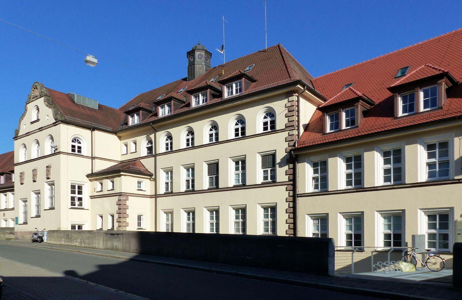 ehemalige Allgemeine Ortskrankenkasse Rückfassade an der Mühlgasse