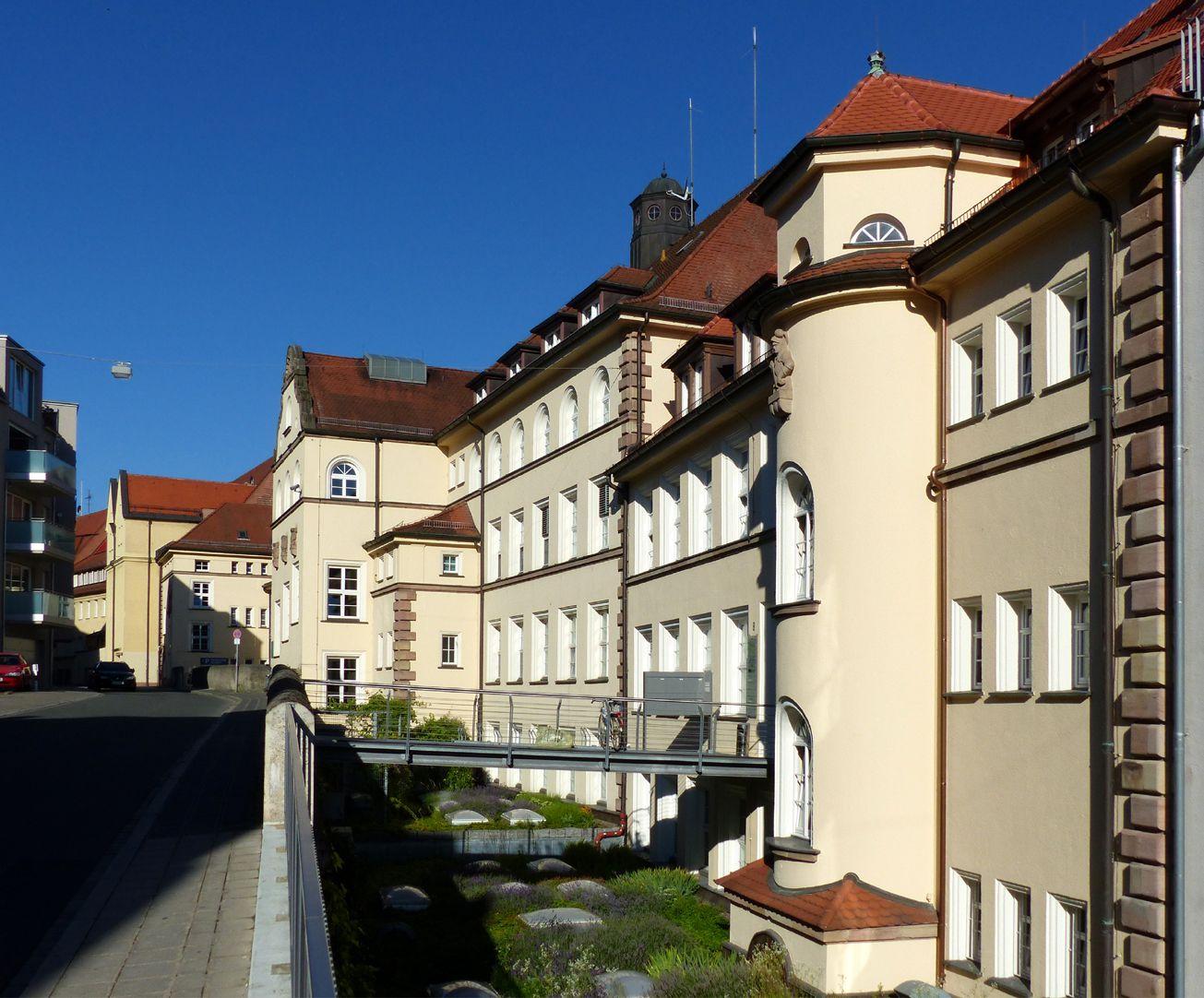 ehemalige Allgemeine Ortskrankenkasse Graben mit Rückfassade, Mühlgasse