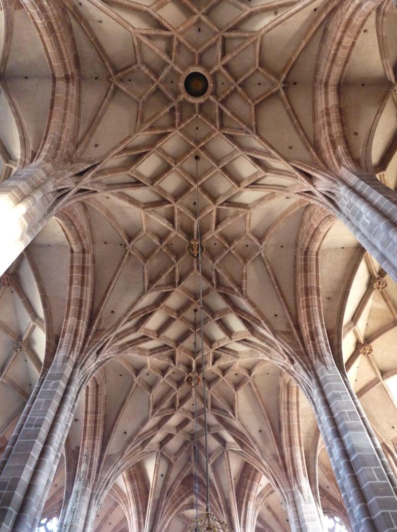 St. Lorenz, Hallenchor, Bauphase Jakob Grimm Chorgewölbe, Pfeiler und Gewölbe