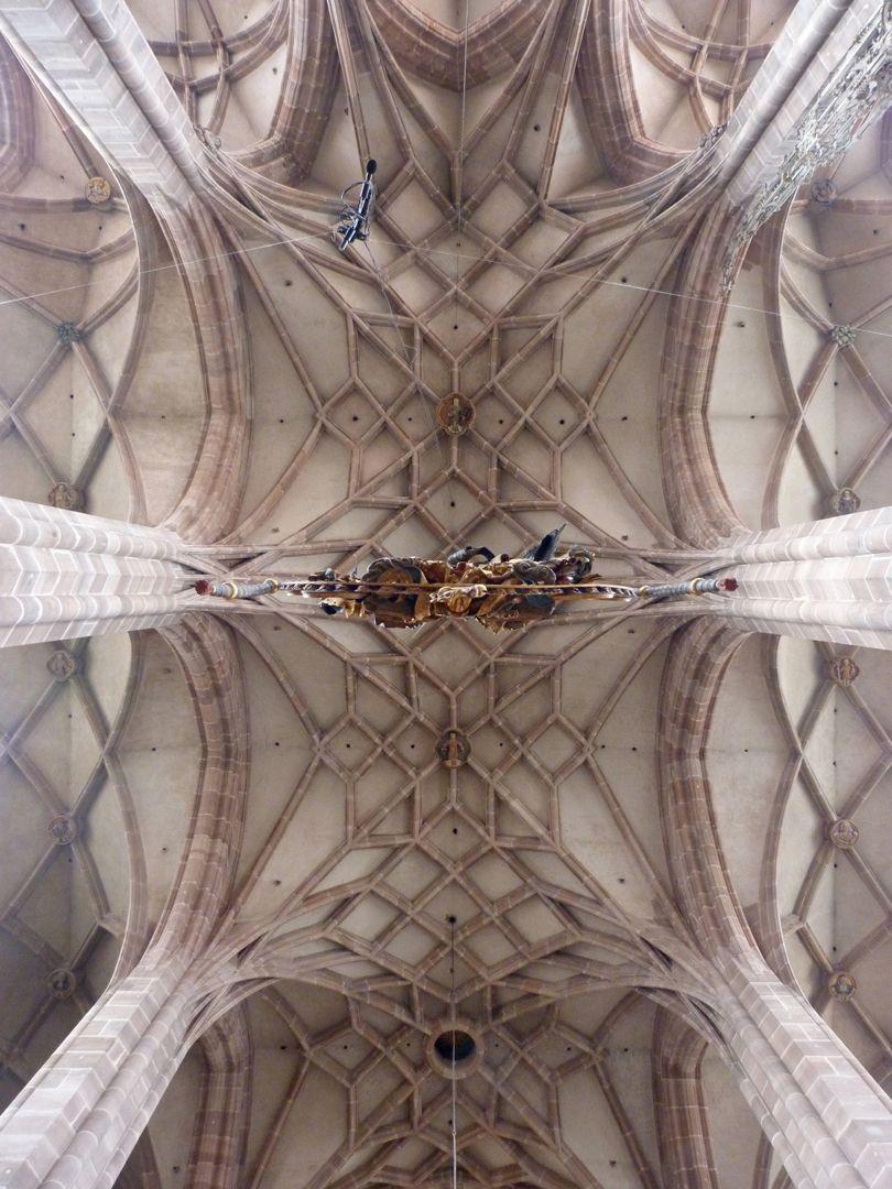 St. Lorenz, Hallenchor, Bauphase Jakob Grimm Mittelschiffgewölbe