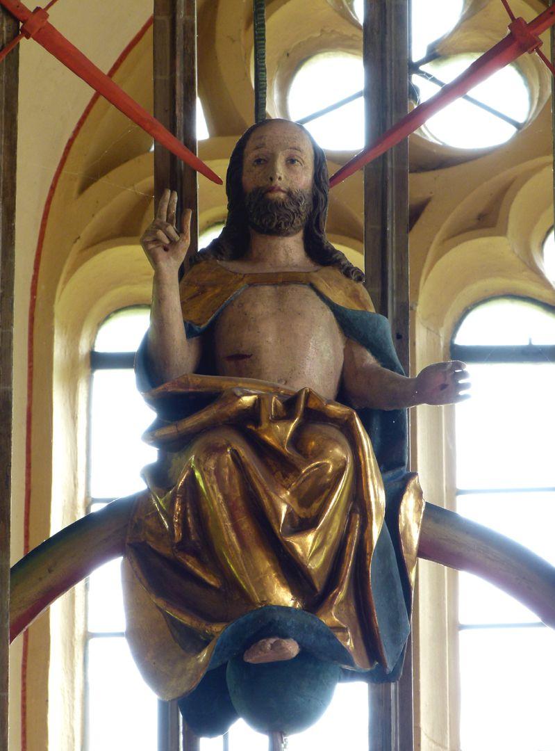 Gutenstettener Altar Gesprenge: richtender Christus