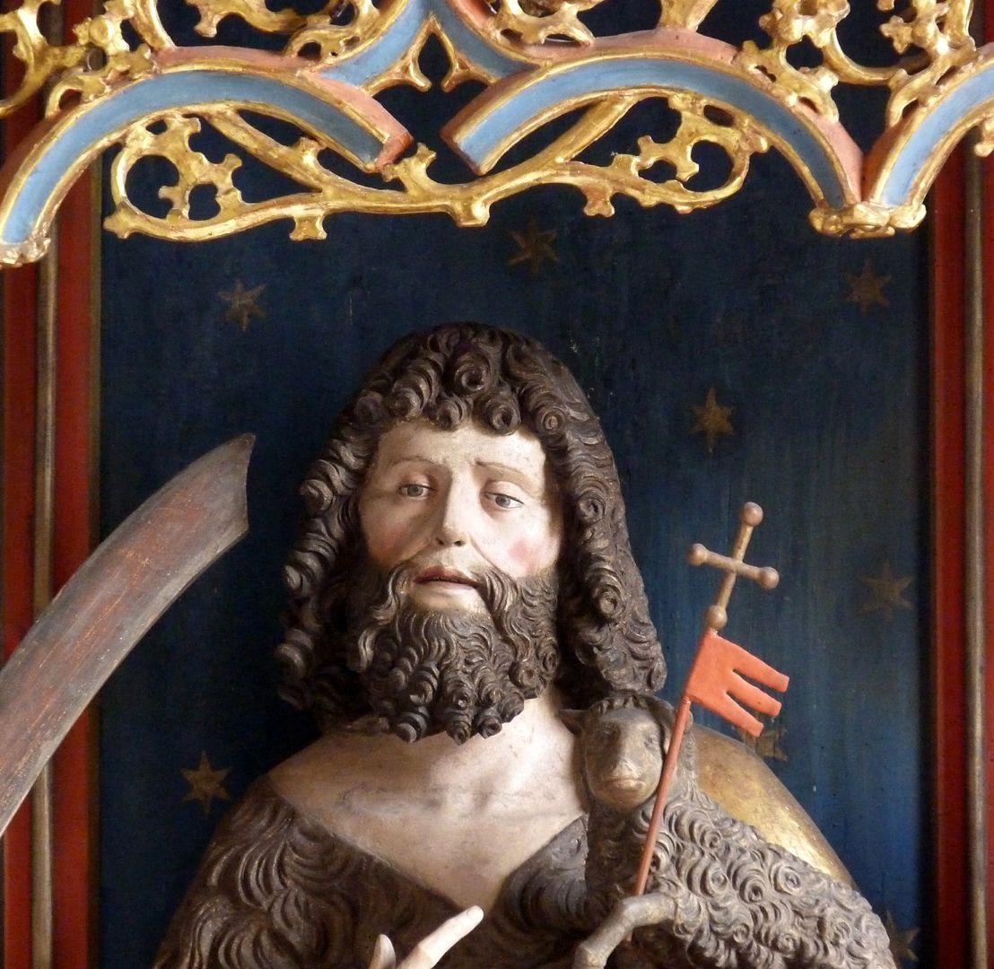 Gutenstettener Altar Altarschrein, Kopf Johannes d. T.
