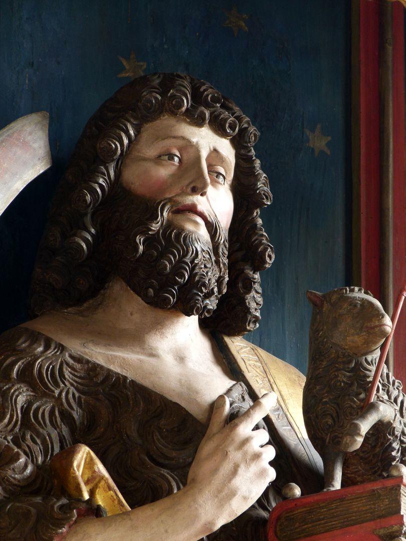 Gutenstettener Altar Altarschrein, Kopf Johannes d. T. im Halbprofil