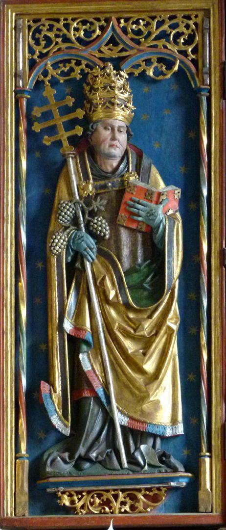 Gutenstettener Altar linker Altarflügel, Relief des hl. Urban