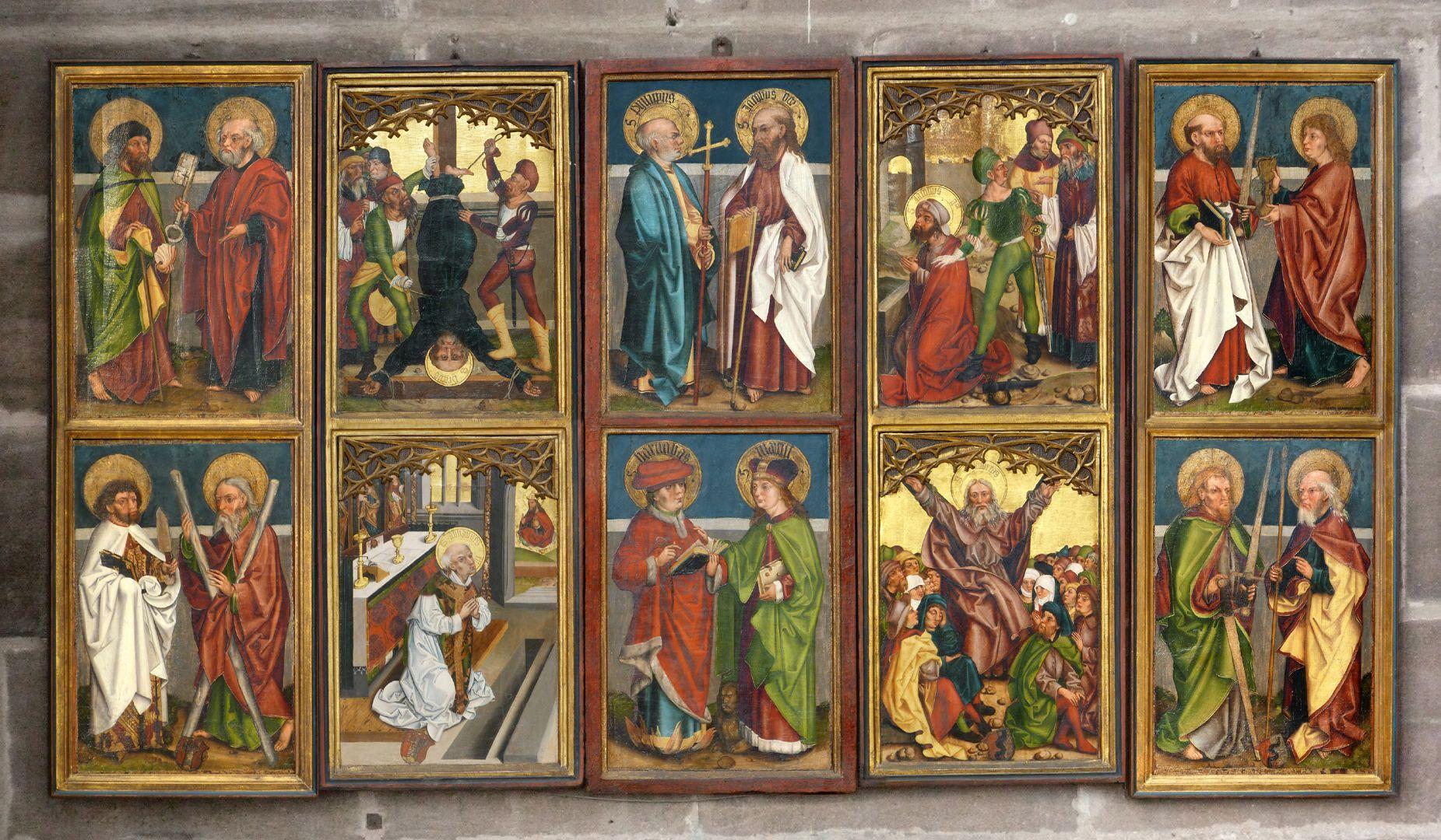Tafeln des Harsdörffer Altars Gesamtansicht