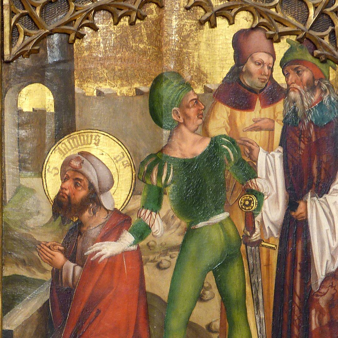 Tafeln des Harsdörffer Altars Marter des Jacobus, Detail