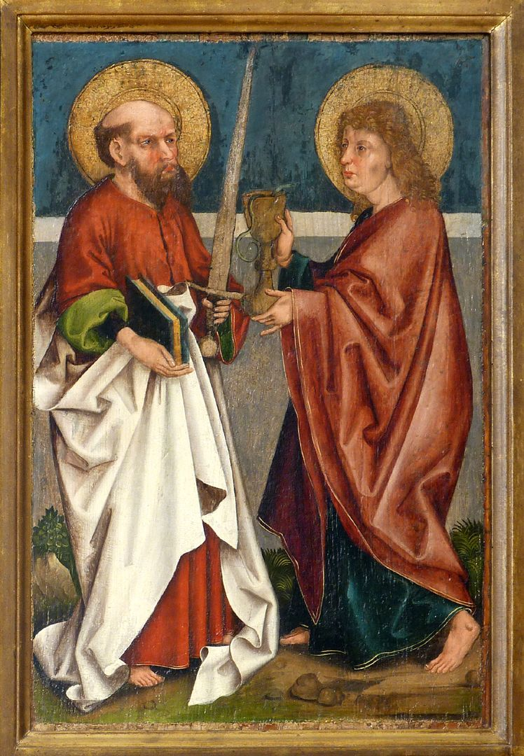 Tafeln des Harsdörffer Altars Paulus und Johannes