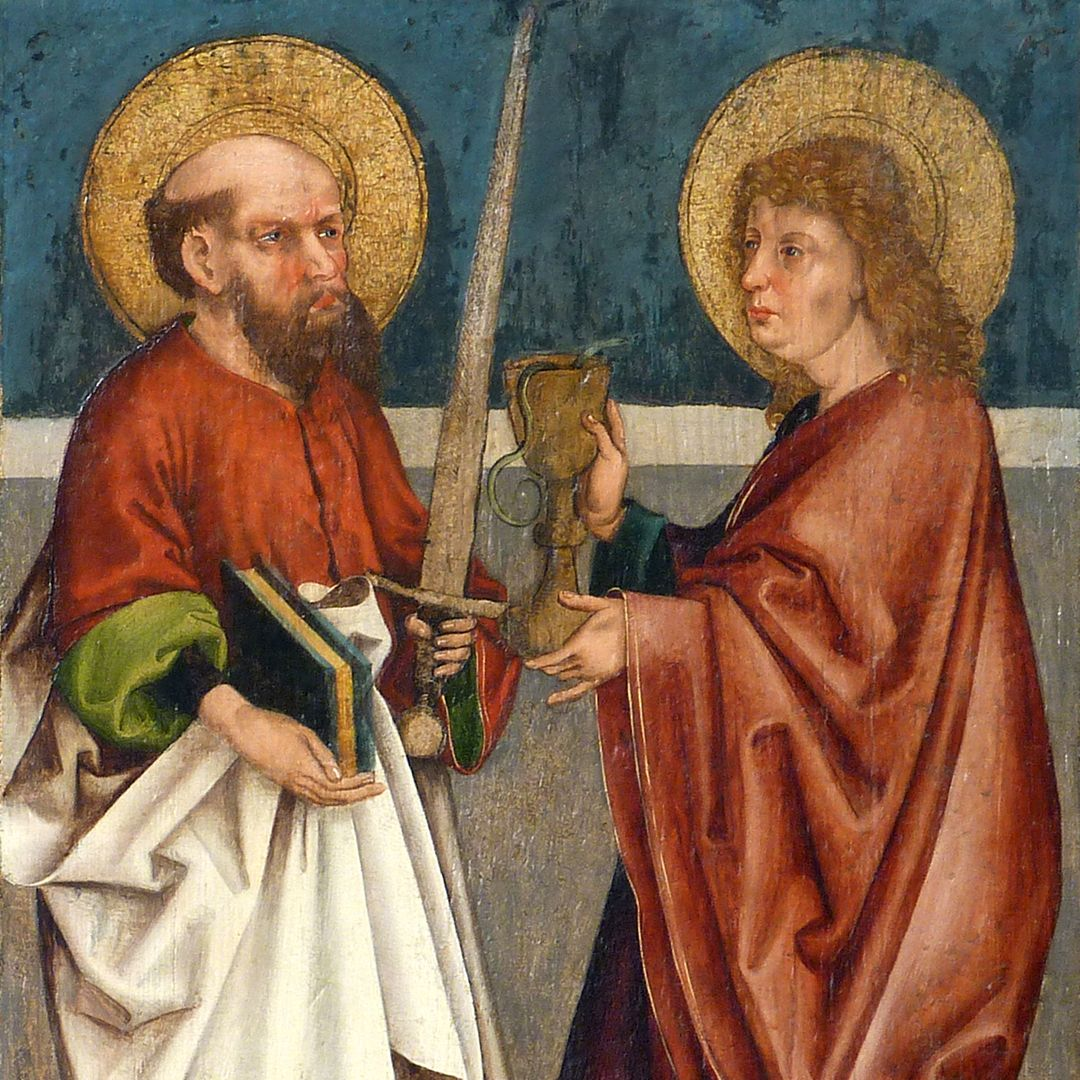 Tafeln des Harsdörffer Altars Paulus und Johannes, Detail