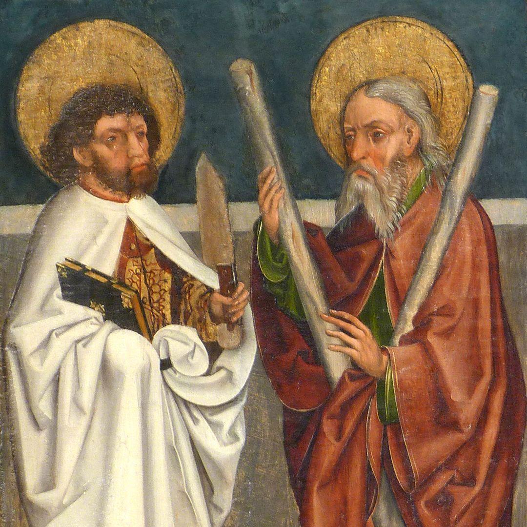 Tafeln des Harsdörffer Altars Bartholomäus und Andreas, Detail