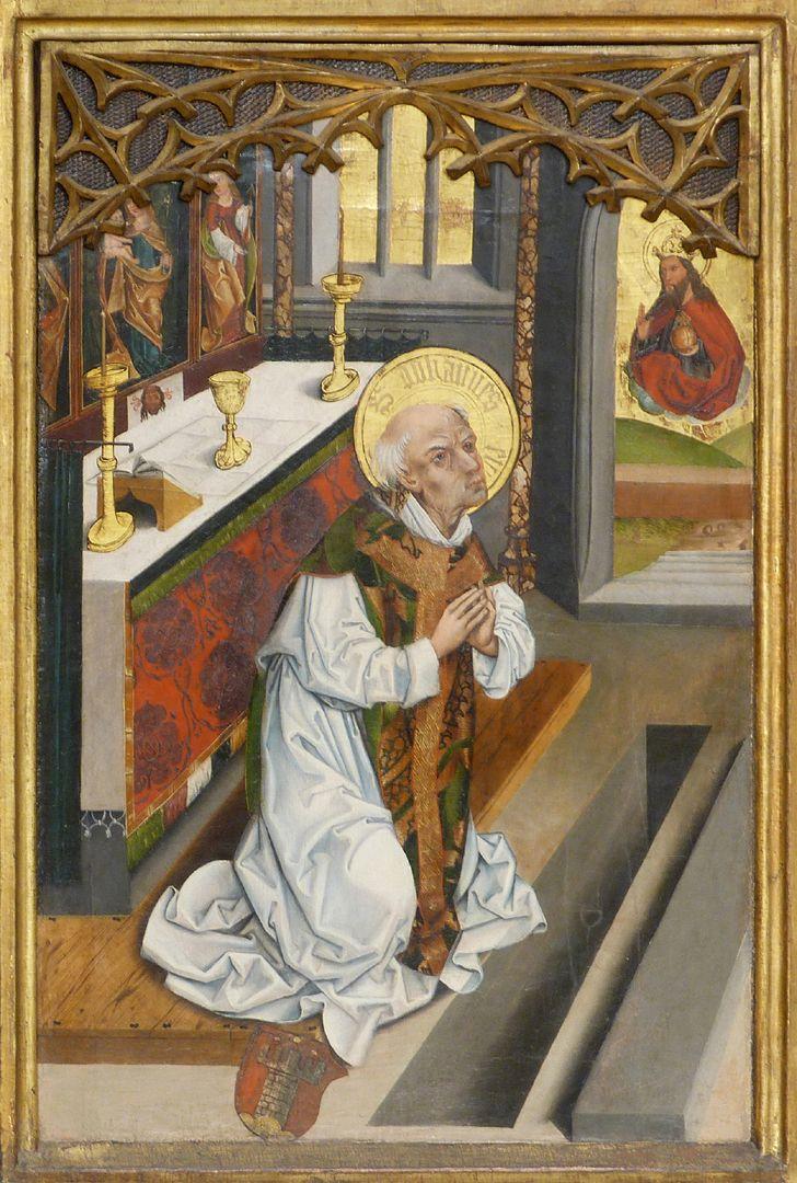 Tafeln des Harsdörffer Altars Gottvater erscheint Johannes am Altar mit Wappen Harsdörffer