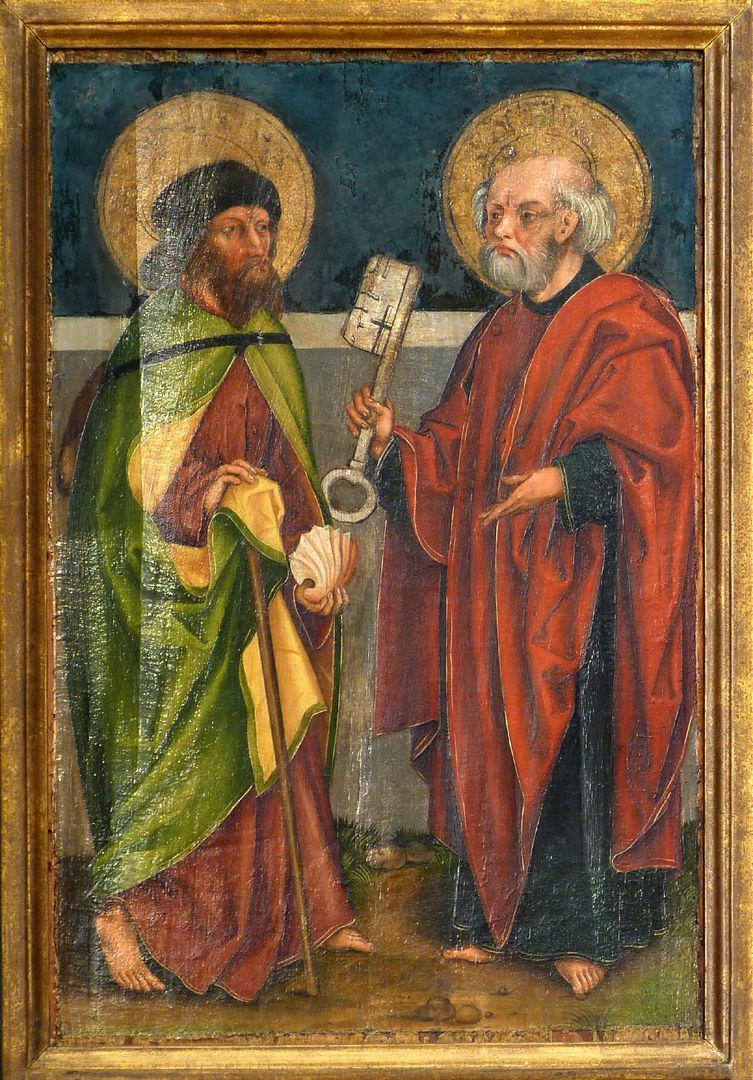 Tafeln des Harsdörffer Altars Jacobus maior und Petrus