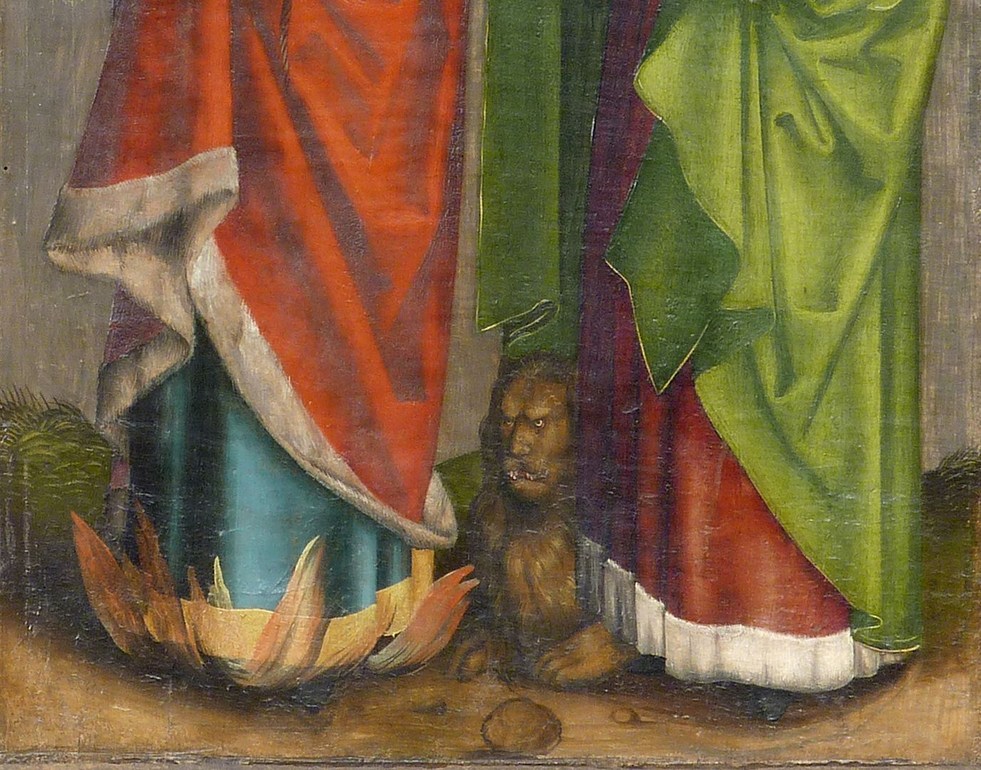 Tafeln des Harsdörffer Altars Barnabas und Markus, Detail