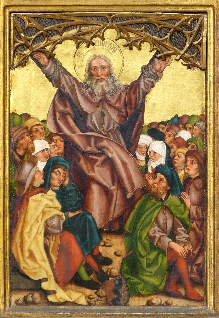 Tafeln des Harsdörffer Altars Andreas am Kreuz mit Wappen Behaim