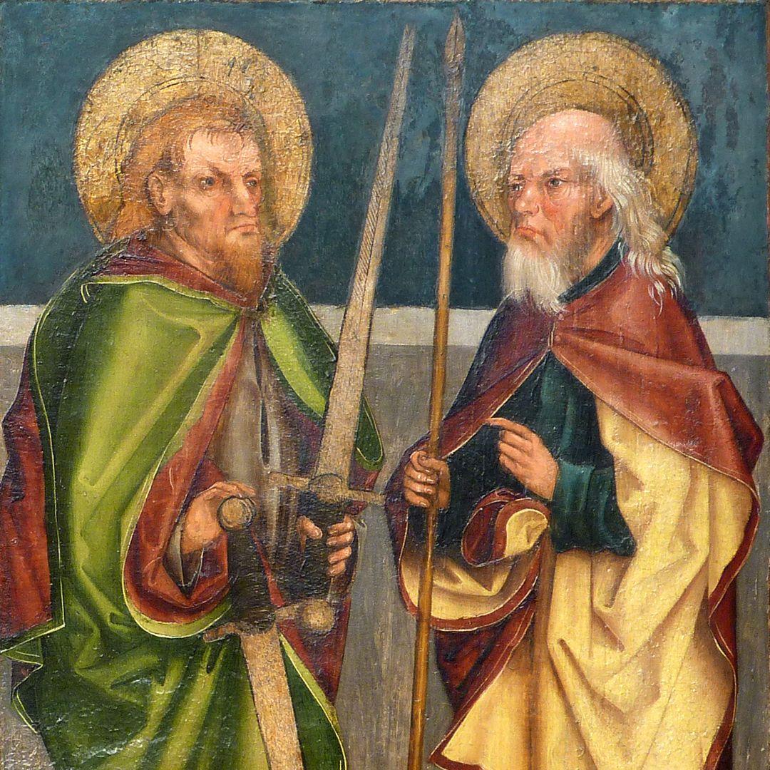 Tafeln des Harsdörffer Altars Matthias und Thomas, Detail