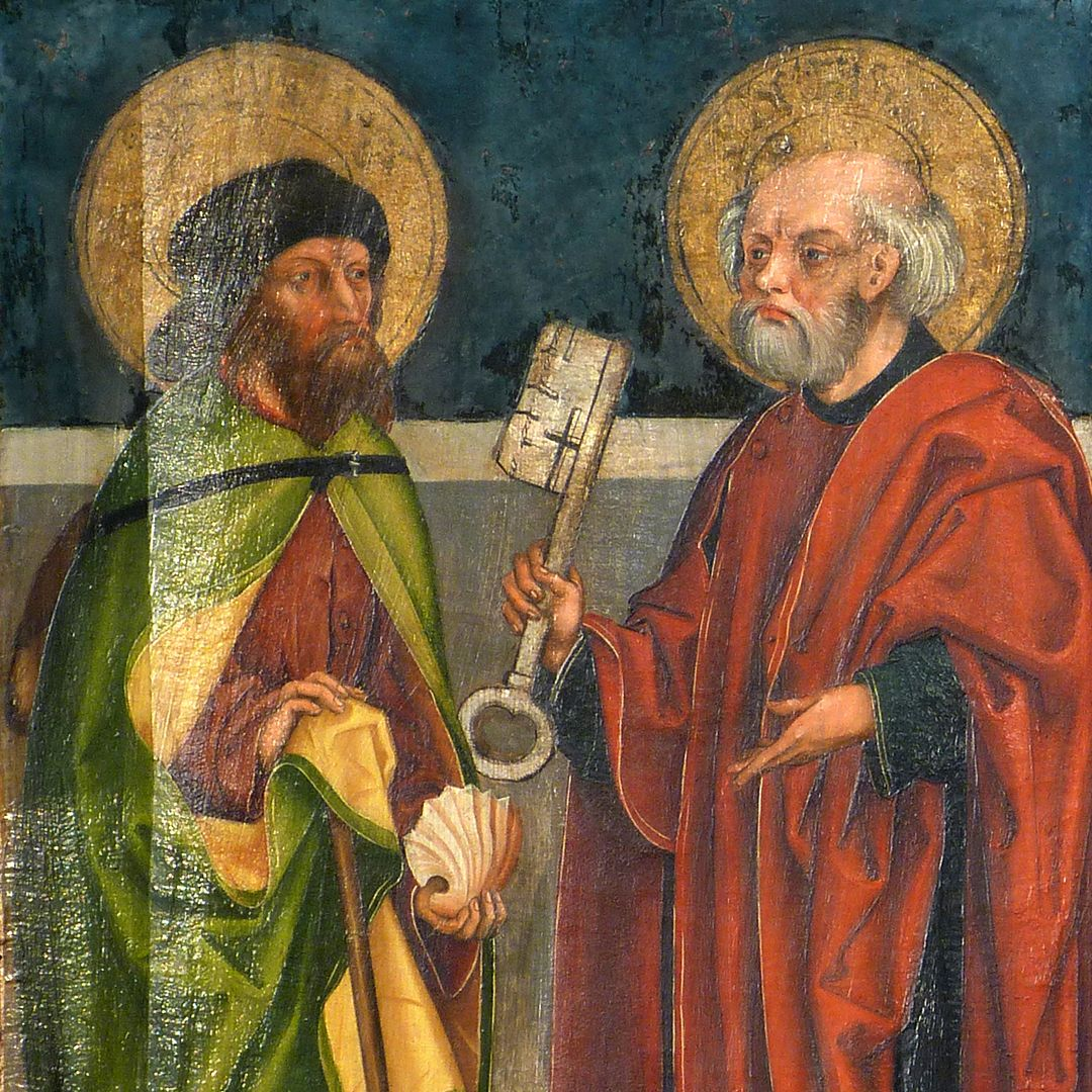 Tafeln des Harsdörffer Altars Jacobus maior und Petrus, Detail